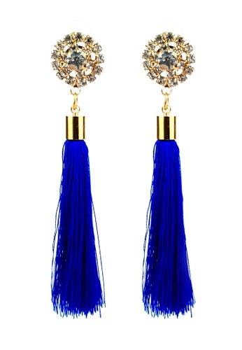 BELLE LIZ blue Blue Dangling Tassel Elegant Earrings 63834ACF988042GS_1