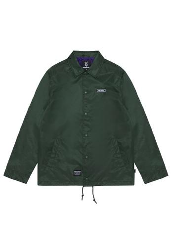 Fingercroxx green Embroidered logo coach jacket 653BEAACF93DB0GS_1