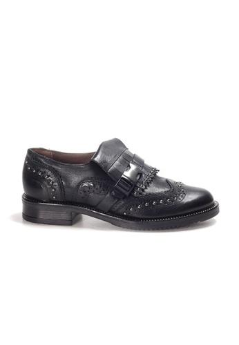 Shu Talk 黑色 LeccaLecca 鞋舒適型格樂福柔軟牛皮皮鞋 40FD4SH4B3562AGS_1