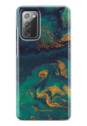 Polar Polar green Green Night Quicksand Dual-Layer Tough Case Glossy For Samsung Galaxy Note20 5G 3AEDAAC8C1A294GS_1