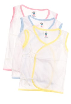 444-0 Tieside White Sleeveless Colored Piping (Set of 3)