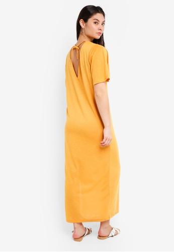 ICHI yellow Flora Dress E1C36AA4ECF88CGS_1