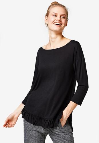 ESPRIT black Long Sleeve T-Shirt 07EBDAA1C73FF2GS_1