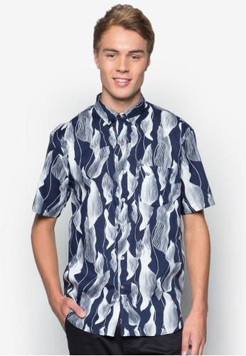 Signature 休閒短袖襯衫, 服飾,esprit bag 印花襯衫