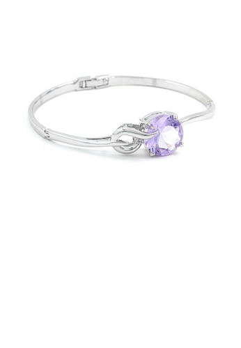 Glamorousky purple Glistening Bangle with Purple Austrian Crystal 4BCB8ACF71791AGS_1
