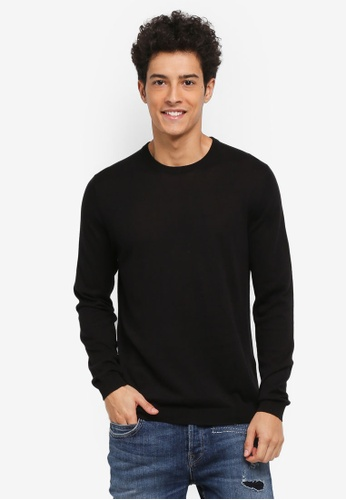 Only & Sons black Lex Fine Crew Neck Knit 76964AA447AEDFGS_1
