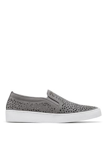 Vionic grey Midi Perf Slip-On Sneaker 5253DSH93BDA49GS_1