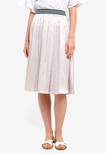new arrive classcic elegant and sturdy package Light Woven Midi Skirt