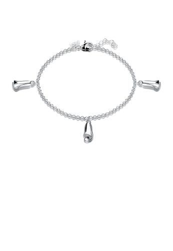 Glamorousky silver Fashion Rose Flower Bracelet 4A438AC147604FGS_1