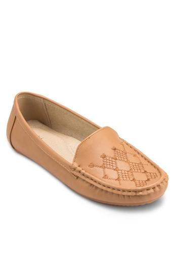 Moccasin 刺繡esprit outlet 高雄鞋面平底鞋, 女鞋, 鞋