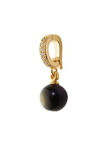 Feithe black and gold Obsidian Charm 9EFC6AC74C0376GS_1