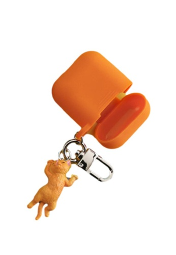 Kings Collection orange Little Meow Keychain AirPods Case (KCAC2003a) 1BCC2AC2B938E9GS_1