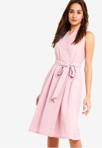 ZALORA pink Wrap Dress 04D06AA0B03AAEGS_1