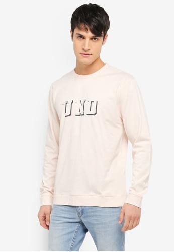 Undefeated pink Long Sleeve Crew Sweatshirt UN888AA0SX44MY_1