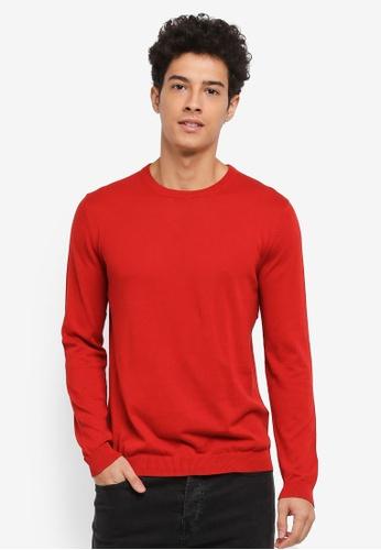 Only & Sons 紅色 長袖圓領針織衫 221A5AAB7986FDGS_1