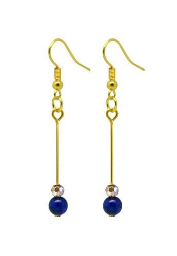 Fur Nyce blue Lapis Lazuli Bead Drop Earrings FU779AC05QZIMY_1