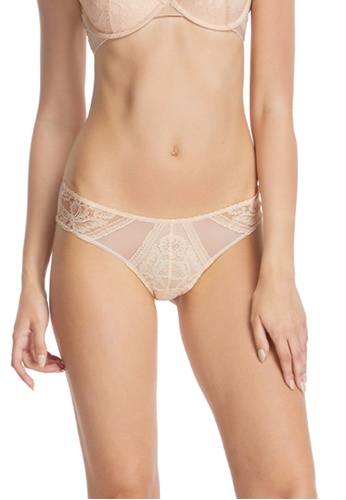 6IXTY8IGHT pink Lace Low-rise Cheeky Panty PT09028 BEC92USEE5655FGS_1