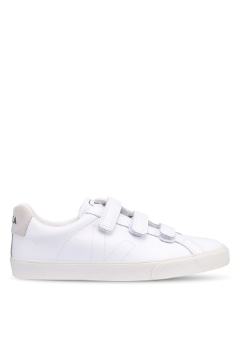 Veja white 3-Lock Leather Sneakers A8C69SH9D15805GS_1