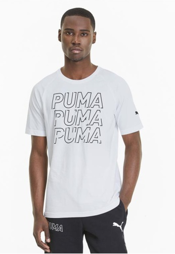 Puma white Modern Sports Graphic Men's Tee 76F23AA93976E5GS_1