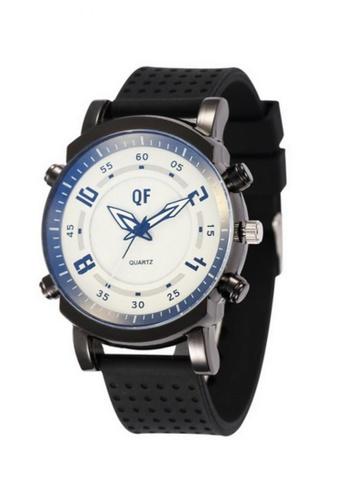 Stylebox black and white QF 1063 Men's Silicone Strap Watch F4757AC1B52717GS_1