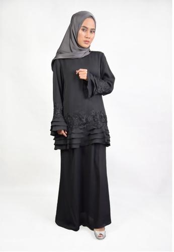 Denai Boutique black Baju Kurung Klara E63F1AAC03B631GS_1