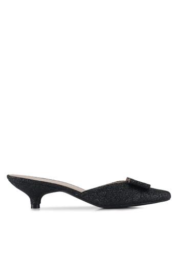 Cipela For Lubna black Charlotte Mules Kitten Heels AAC2ASH82E0064GS_1