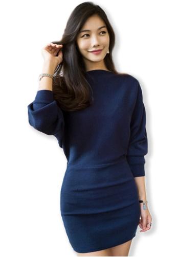 Sunnydaysweety blue F/W Blue Dolman Sleeve Dress UA082810BL SU219AA0FLV9SG_1