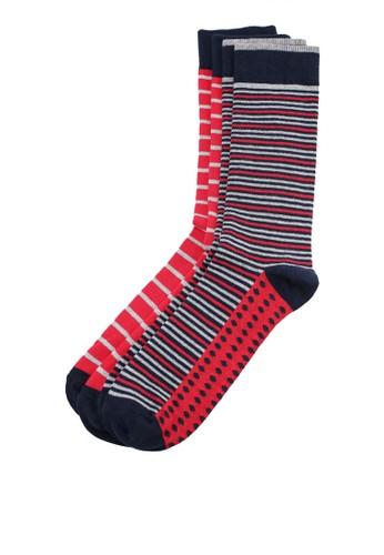 MANGO Man red 2 Pack Striped Socks 1704DAA5180AB7GS_1
