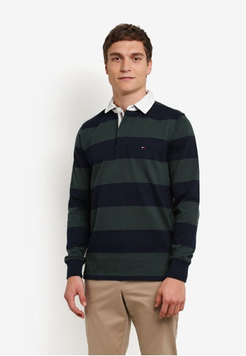 Tommy Hilfiger navy BASIC BLOCK STP RUGBY L/S VF TO729AA0G1R0SG_1