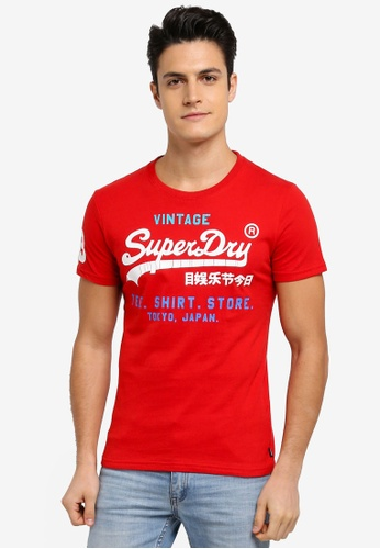 Superdry red Shop Tri Tee 9EAD0AA5744A5FGS_1