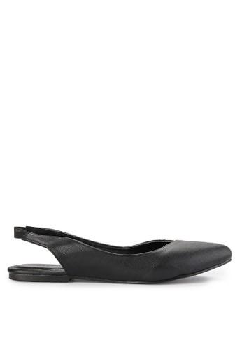 Victoria Slingback Flats - Black - Head Over Heels