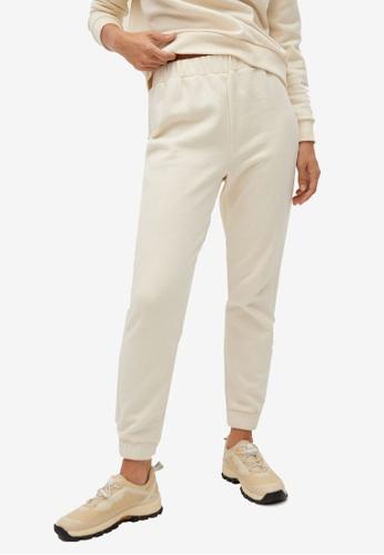 Mango beige Cotton Sweats Trousers BFD14AA19C7725GS_1