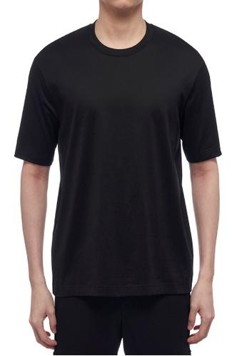 CK CALVIN KLEIN black Double Mercerised Cotton Jersey Short-Sleeved T-Shirt 5DEAEAAEC43457GS_1