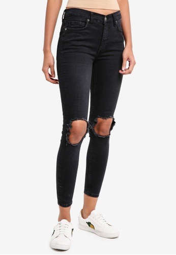Free People black High Rise Busted Skinny Jeans 9F9E3AAC73B40DGS_1