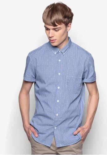 格紋短袖襯衫, 服飾, 短esprit outlet 台中袖襯衫