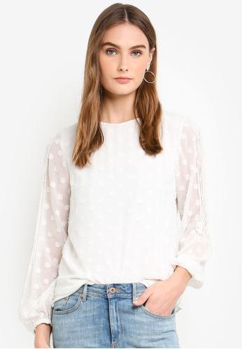 Vero Moda white Eva LS Top 49663AA653ECB1GS_1