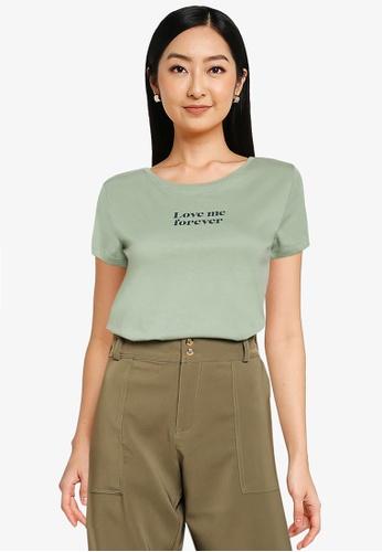 JACQUELINE DE YONG green Chicago Short Sleeve Print T-Shirt F1FFFAADE61141GS_1