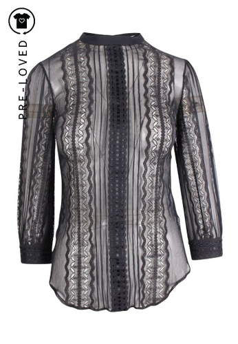 Lover black Pre-Loved lover Long Sleeves Black Lace Top B2FFDAA5640C39GS_1