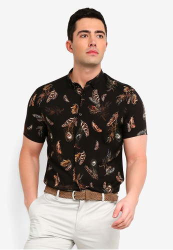 River Island black Peacock Shirt 95091AAAA86FEEGS_1