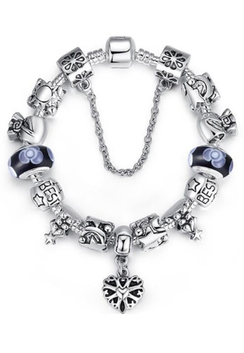 YOUNIQ silver YOUNIQ Silver Charm Bracelet with European Christmas Series for Her Gift PA1827 (Blue) YO999AC27DCYMY_1