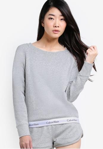 Calvin Klein grey Modern Cotton Long Sleeve Sweatshirt - Calvin Klein Underwear CA221AA14DMBMY_1
