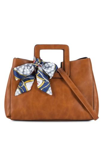 圍巾飾復古手提包, 包,esprit香港門市 包