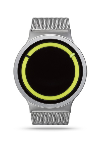ZIIIRO black and yellow and silver Eclipse Steel Chrome Lemon Watch 06276AC32E9F28GS_1