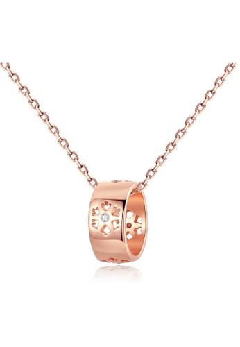 SUNRAIS Premium Silver S925 Rose Gold Simple Design Necklace BB2A2ACD66F005GS_1