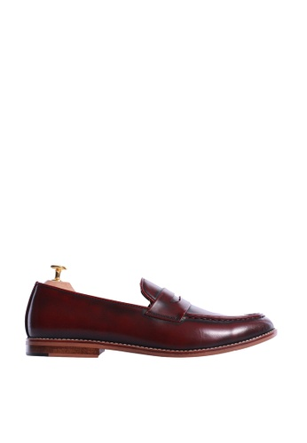 Zeve Shoes red Zeve Shoes Penny Loafer - Red Polished Leather 8CB11SHE2AB19CGS_1