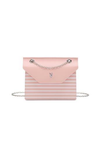 PLAYBOY BUNNY pink Ladies Chain Sling Bag 183DDACF726C47GS_1