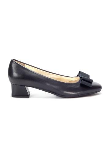 Shu Talk 黑色 絲帶蝴蝶結低跟鞋 7EF2FSH9C17C2DGS_1
