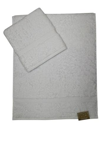 Cotton Fields white Cotton Fields Hand Towel Plain D8B57HL35F66C1GS_1