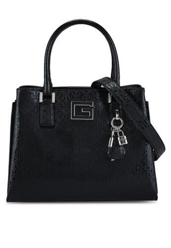 Guess black Blane Girlfriend Satchel Bag ECED1AC250D467GS_1