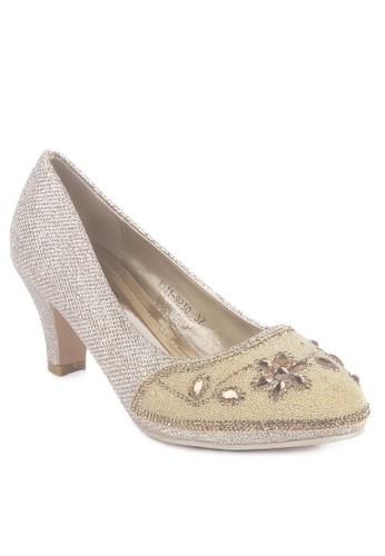 CLARETTE gold Clarette Heels Party Jaelynn Gold CL076SH17LWCID_1